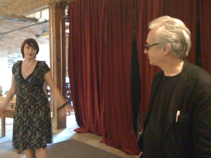 Raindance Canada's Sales and Marketing Manager Jaimy Warner at the podium (left) beside Elliot Grove, head of the Raindance Film Festival. http://raindancecanada.com