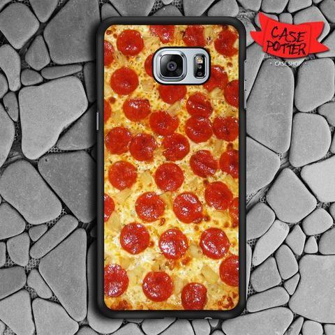 Pepperoni Pizza Samsung Galaxy S6 Edge Black Case