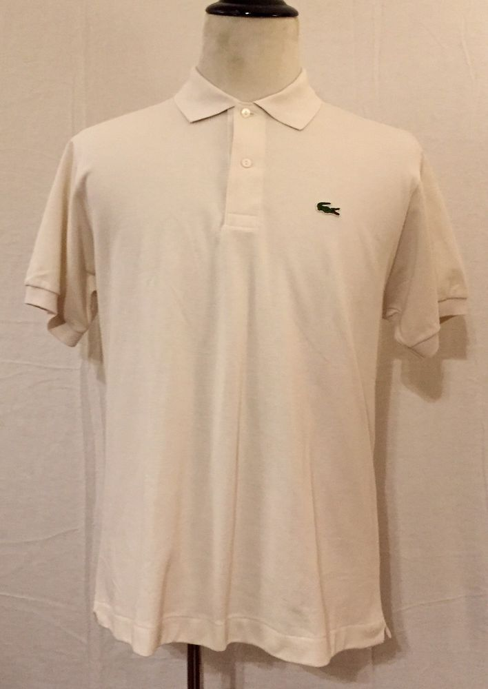 Brand New Mens Lacoste White (M/5) 100% Cotton Short Sleeve Polo Style Shirt NWT    eBay