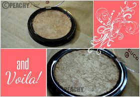 PeachyPout: DIY : How to fix broken compact makeup products