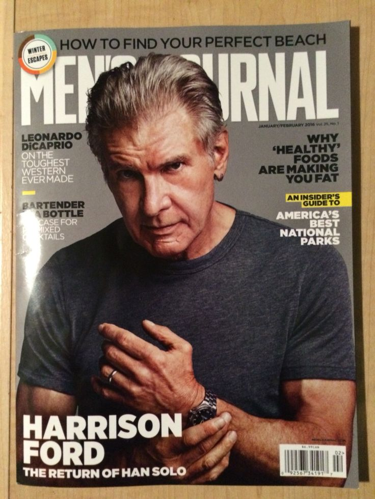 Harrison Ford on the cover of 'Men's Journal'. #hansolo