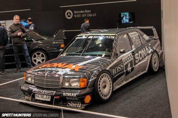 1992 Mercedes 190 Evo II DTM, campaigned by AMG-Mercedes with Bernd Schneider behind the wheel, and it took four victories and ended up in third place overall for the '92 season. 42-Techno-Classica-Essen-2015-Jeroen-9674