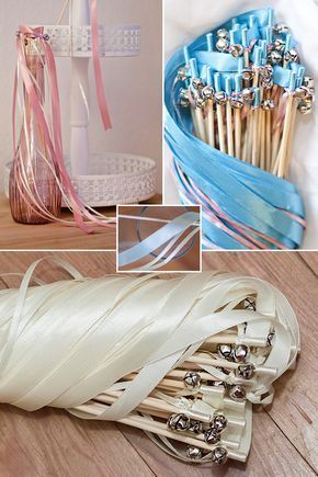 Romantisches Accessoire für Deine Hochzeit: Glücksstäbe mit Glöckchen für d…