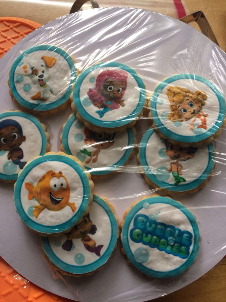 Bubble guppy cookies