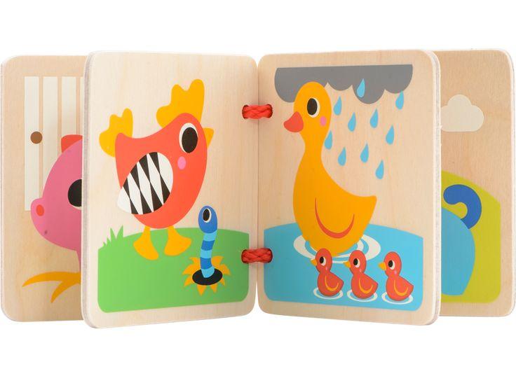 SPIRE Wooden Book - Farm | BR Wooden Toys | Varumärken | Leksaker från BR