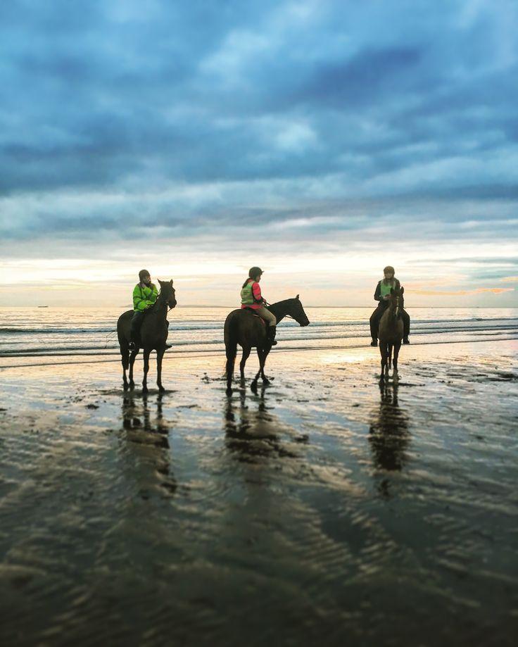 Riders in the beach Bracklesham Bay by Lizzie Reakes