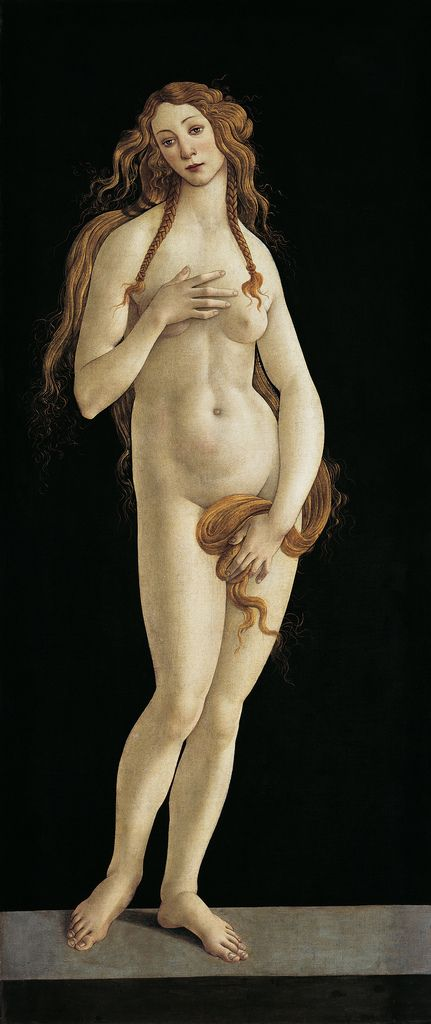 ❤ - SANDRO BOTTICELLI ( 1445 - 1510) - Venus. Berlin, Staatliche Museen, Gemäldegalerie.