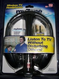 MyZone Wireless TV HEADPHONES NEW As Seen On TV Product Gift TELEBrands