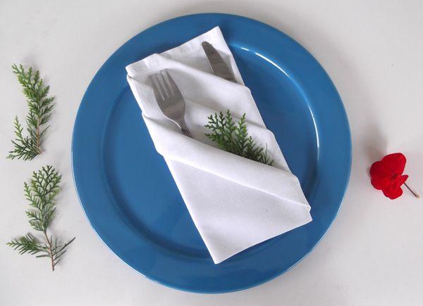 Textile Decorative Arts: Napkin folding - Pouch with diagonal stripes