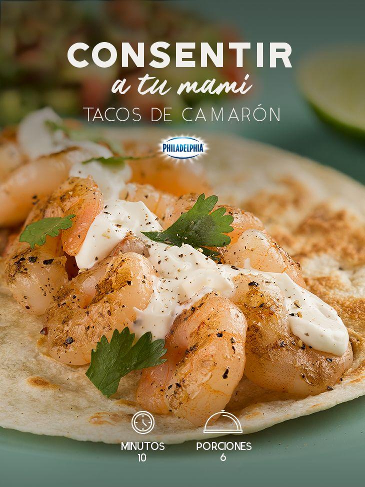 Cuando tu mami te visita y quieres compartir con ella una comida muy especial. #recetas #receta #quesophiladelphia #philadelphia #crema #quesocrema #queso #comida #cena #almuerzo #mamá #camarones #tacos