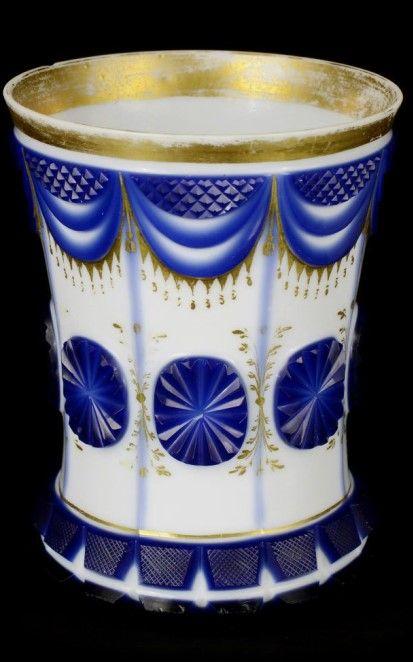 Bílé mléčné sklo. Severní Čechy, Polevsko, Raffinerie Friedrich Egermann, 1835-1840.