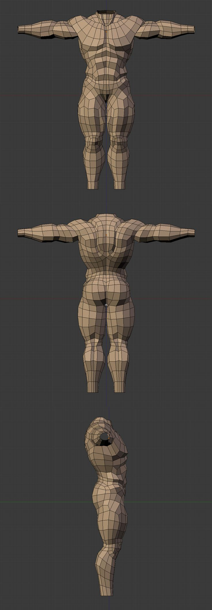 Anatomy/Topology Study_by Dude Andy_from PolyCount