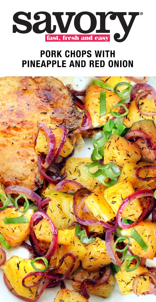 Put a tropical twist on your next meal by adding pineapple. Click to get this savory and sweet pork chop recipe.