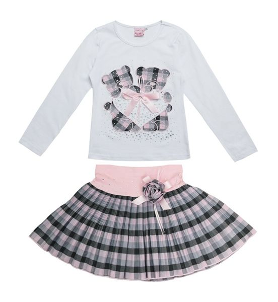 2015 New Fashion Boutique Outfits Sets For 2 Pcs Kids Girl Long Sleeve Cotton Shirts Tops + Plaid Tutu Skirts With Bow Sets | UNUM CLICK - Online Shopping for Electronics, Fashion, Home & Garden, Toys & Sports, Health & Beauty and more