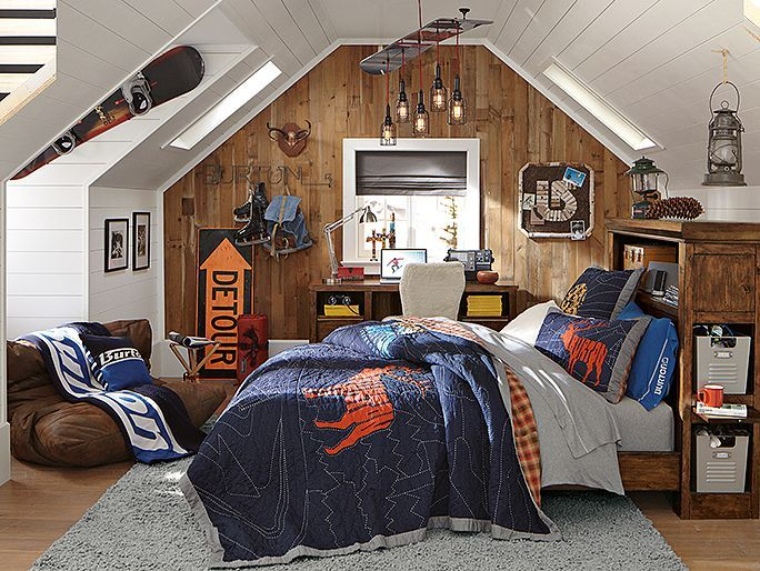 I love the PBteen Oxford Extreme Burton Bedroom on pbteen.com
