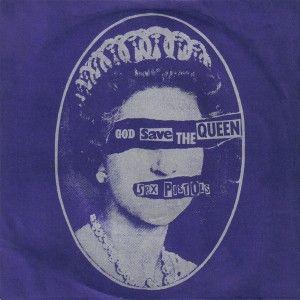 Album The Sex Pistol yang menggunakan media fotografi seorang ratu di Inggris, dan diaplikasikan menjadi sebuah desain sampul