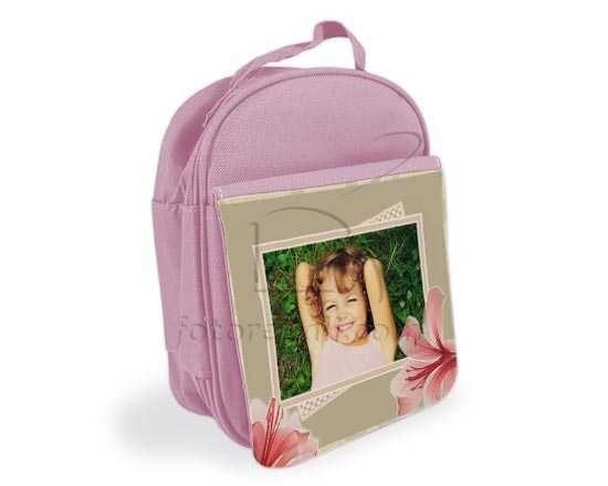 Porta pranzo personalizzato con foto e grafica lilium