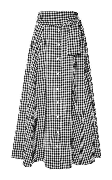 Gingham Beach Skirt by Lisa Marie Fernandez       Moda Operandi