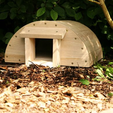 Hedgehog house from FSC Trademark Licence holder Hen and Hammock. Help to stop the declining hedgehog population!