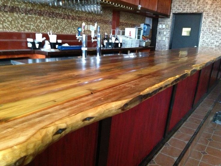 Antique wood bar top bars pinterest wood bars for What to use for a bar top