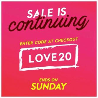 Enjoy 20% off EVERYTHING this weekend, including sale items! Code LOVE20.  Better get shopping: http://www.cherrybanana.com.au