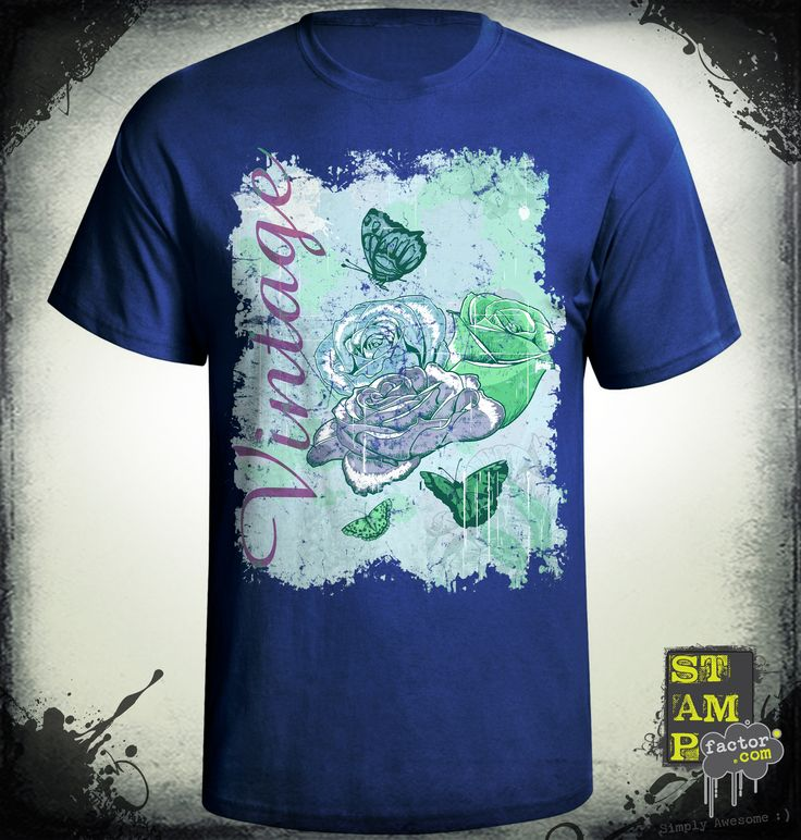 VINTAGE ROSES (Version 03) 2015 Collection - © stampfactor.com *T-SHIRT PREVIEW*
