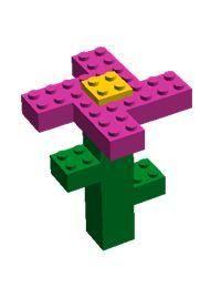 Lego ontwerp bloem
