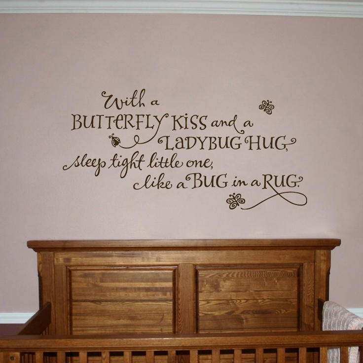 I'd love to have this in Lilly's Room! Same color - Dark Brown. With a butterfly kiss and a ladybug by OldBarnRescueCompany