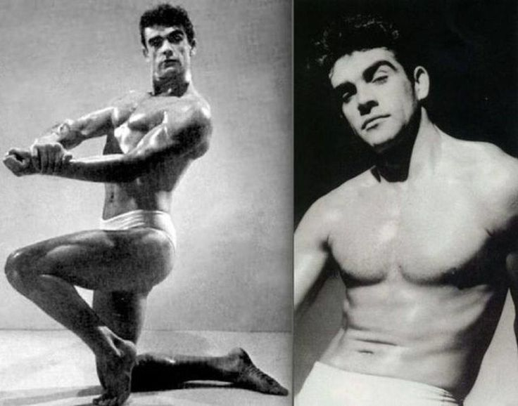 Sean Connery, finishing third in the Mr. Universe competition in 1953.