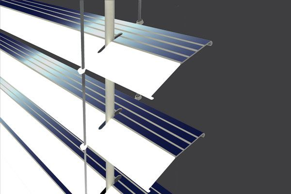 Solar blinds keeps the house cooler. I want!