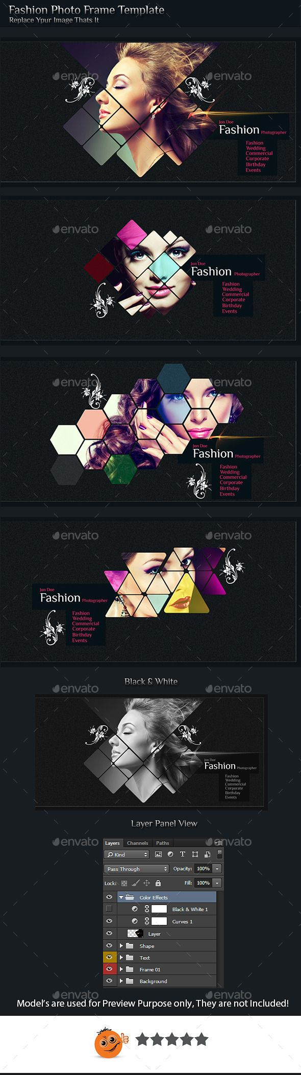Fashion Photo Frame -  PSD Template • Download ➝ https://graphicriver.net/item/fashion-photo-frame-template-/10683145?ref=pxcr