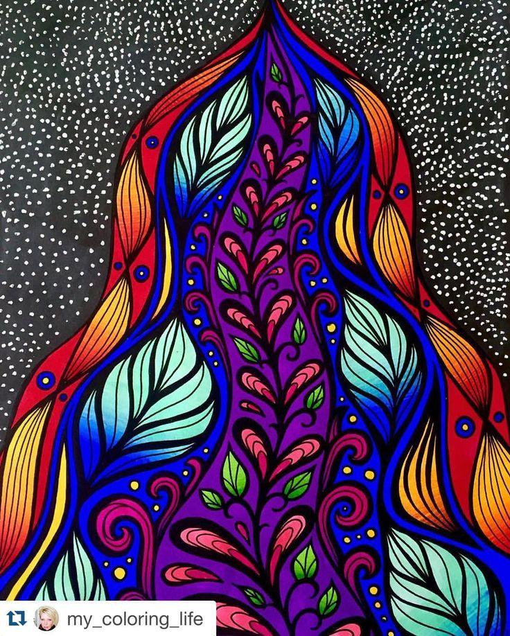 Amazing coloring by @my_coloring_life ❤️ She made my drawing alive!  Page from Mielikuvia vol 1 colouring book.  #paivivesala_art #mielikuvia #värityskirja #målarbok #kolorowanka #malbuch  #Repost @my_coloring_life with @repostapp. ・・・ #mielikuvia #markers #myart #my_coloring_life #myartwork #mycoloringlife #art #artwork #adultcoloringbook #colourful #colorful #kleur #kleurrijk #kleurjemee #volwassenenkleurenook #coloring_masterpieces #boracolorirtop