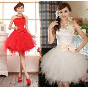 全2色 チュールスカート ミニドレス 花嫁二次会 花嫁ミニドレス ウェディングドレスショート丈 カラードレス