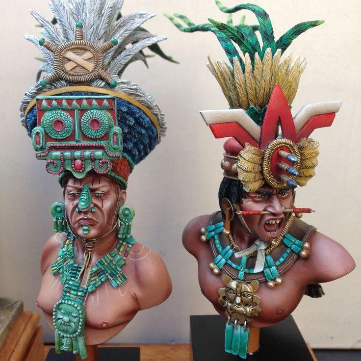 Zapotec Warrior & Sacerdote Maya