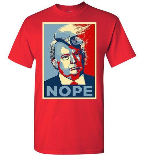 T shirt online Heavy Cotton- Nope Trump T shirt for Men's- Anti Trump Administration Tees online