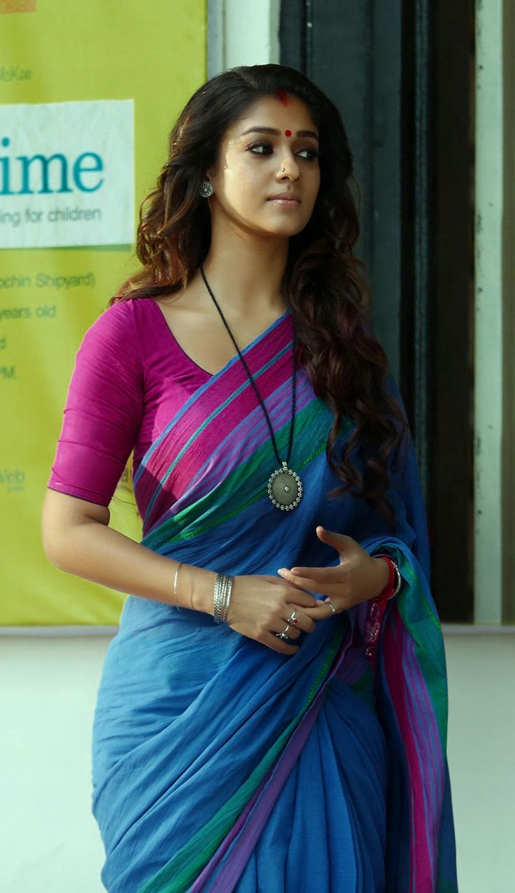 Gorgeous Nayanthara #Nayanthara #Nayantara #GorgeousNayanthara #BeautyQueenNayanthara #Nayans #Sari #Saree