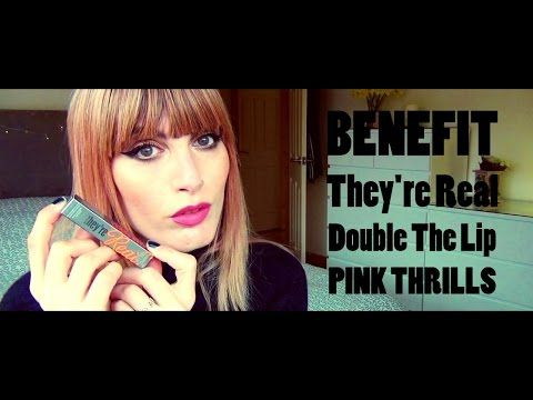 MichelaIsMyName: BENEFIT They're Real Double The Lip PINK THRILLS |...