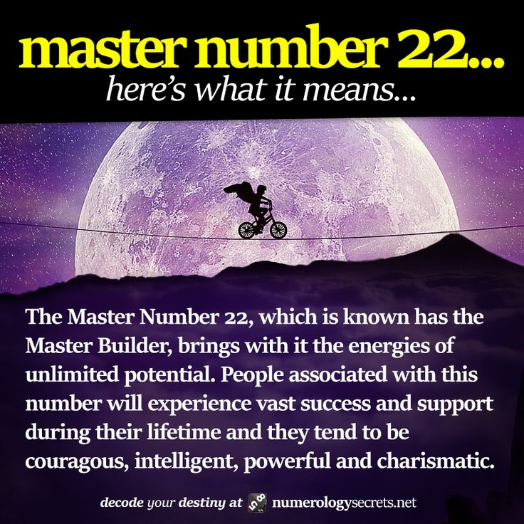 Master number 22 explained. Learn more at http://numerologysecrets.net/master-number-22/