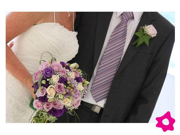 Decoración para bodas de color lila