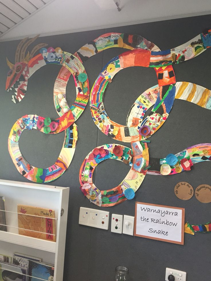 Rainbow snake class art