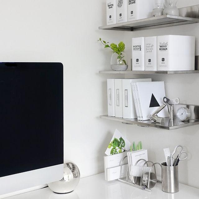 机/シルバー/見せる収納/ワークスペース/パソコンスペース/PCデスク…などのインテリア実例 - 2015-04-12 09:59:20 | RoomClip(ルームクリップ)