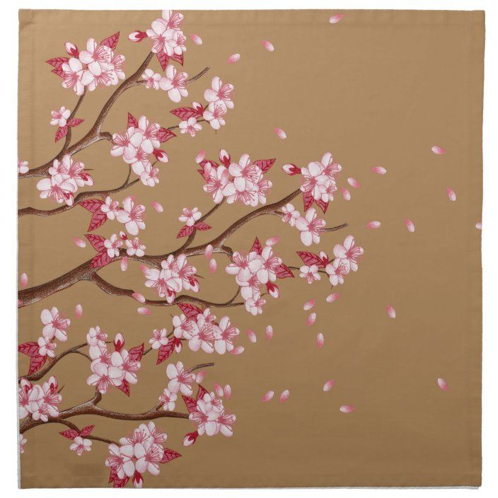 Cherry Blossom Branches Napkin Zazzle Com In 2021 Cherry Blossom Branch Cherry Blossom Cherry Flower