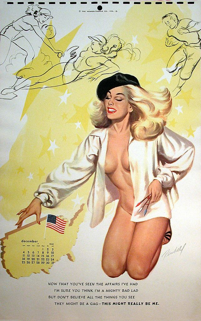 =-=1949: Bill Randal, Vintage Calendar, Calendar Girls, Affair 49, Pinup Girls, December Pinup, Pinup Art, Pin Up Girls, Vintage Image