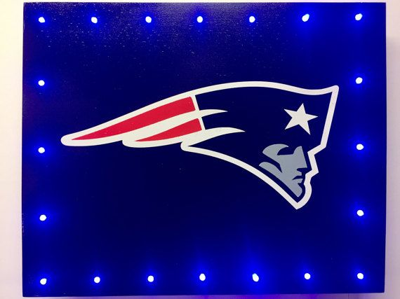 New England Patriots LED Wood Sign NFL by CaliradoArt on Etsy