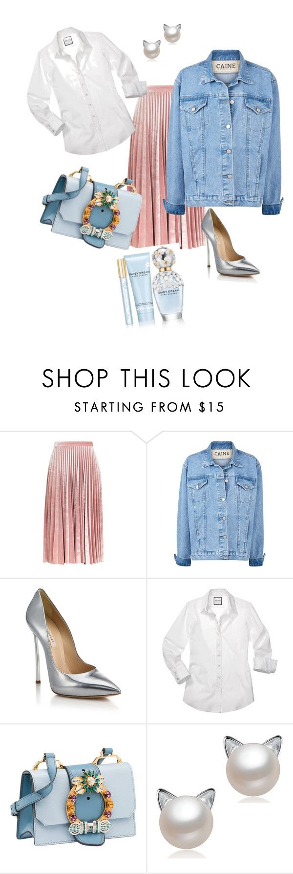 """""""Untitled #3"""" by alya-volov on Polyvore featuring Topshop, Casadei, Miu Miu and Marc Jacobs"""