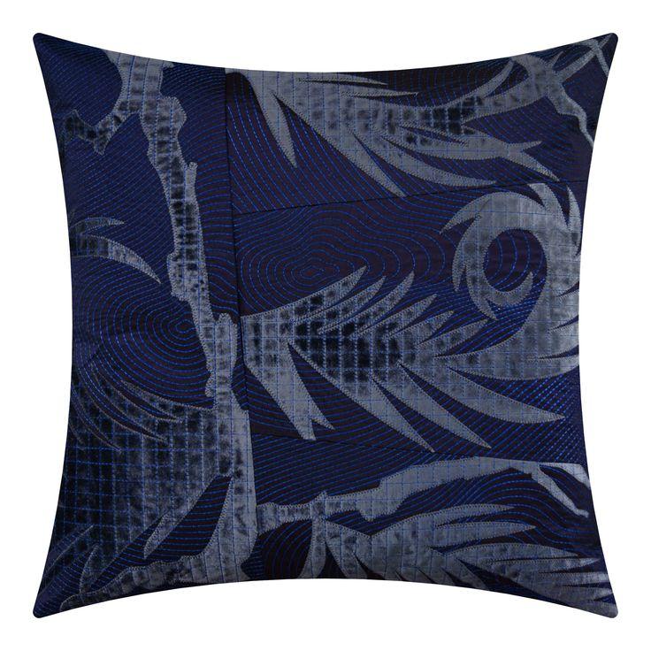 New Kyoto on silk blue plum, 56x56cm