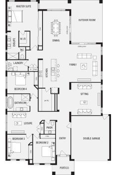 australian house plans with master at rear - Google Search