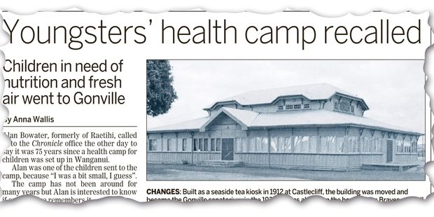 LANDMARK STORY: Last week's Chronicle story on the camp.