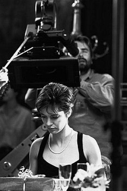 Luc Besson and Anne Parillaud on-set of La Femme Nikita (1990)
