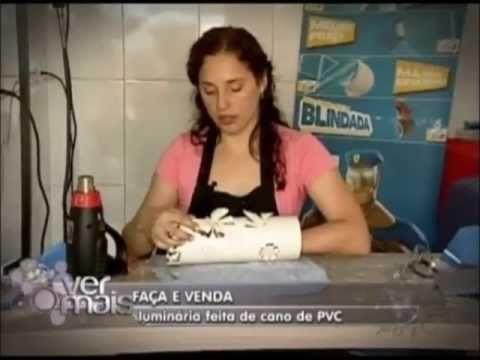 Luminárias em PVC - Passo a passo                                                                                                                                                                                 Más
